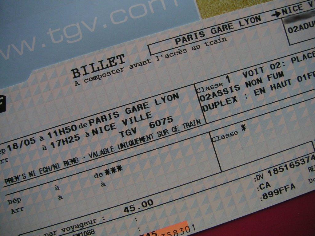 paris tgv tickets