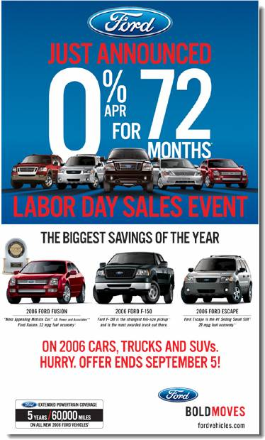 The Gest Savings Of Year Are Here During Ford Labor Day S Event Now Until September 5th Get 0 Apr Financing On 2006 Cars
