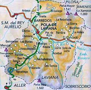 Pola De Laviana Mapa.Revista Monsacro Patrimonio Industrial Minas En Laviana