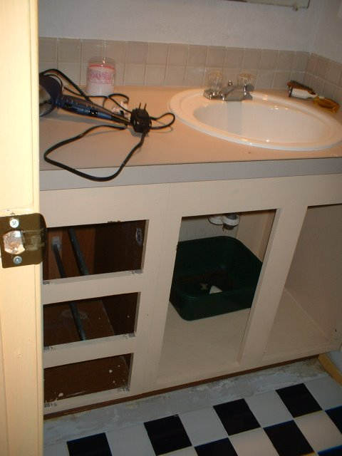 Bathroom Vanity Remodeling: Removing doors and drawers