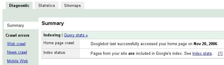 official google webmaster central blog introducing sitemaps for
