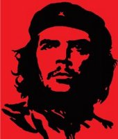 black on red portrait of Che Guevara