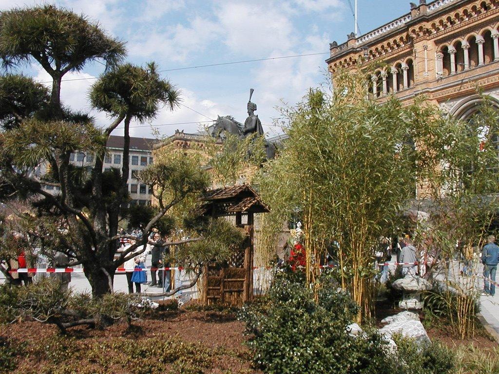 Japanische Garten Mit Bonsai Bambus Brunnen Potthoff News