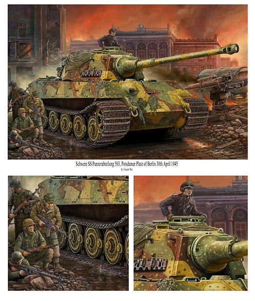 vincent wai 39 s military art berlin tiger ii ssspzabt 503 painting completed. Black Bedroom Furniture Sets. Home Design Ideas