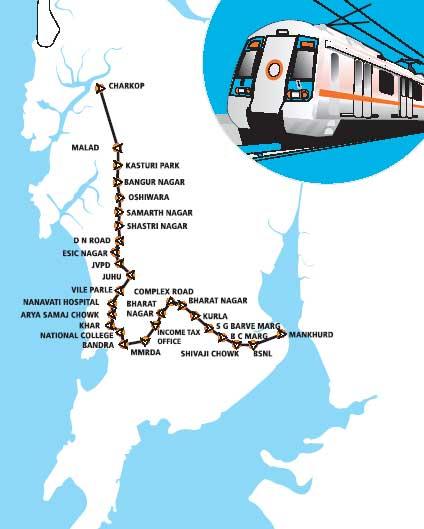 Mumbai Subway Map.Mumbai Matters Mumbai Metro Charkop Route Changed