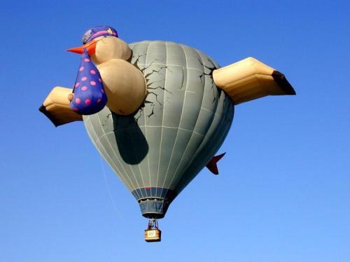 Hot air balloons over Albuquerque