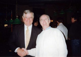 At Ed Garvey's victory party in 1998. He may not have won the election, but he won the battle of integrity.