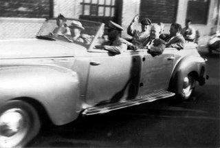Douglas MacArthur in his limousine