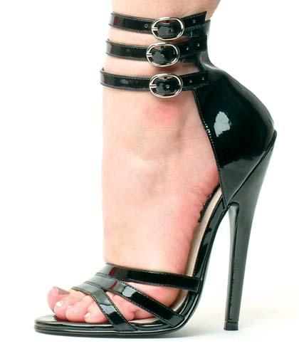 35d87cd8a62 Devilish Heel Deals  6 Inch Black Strappy Extreme Heels