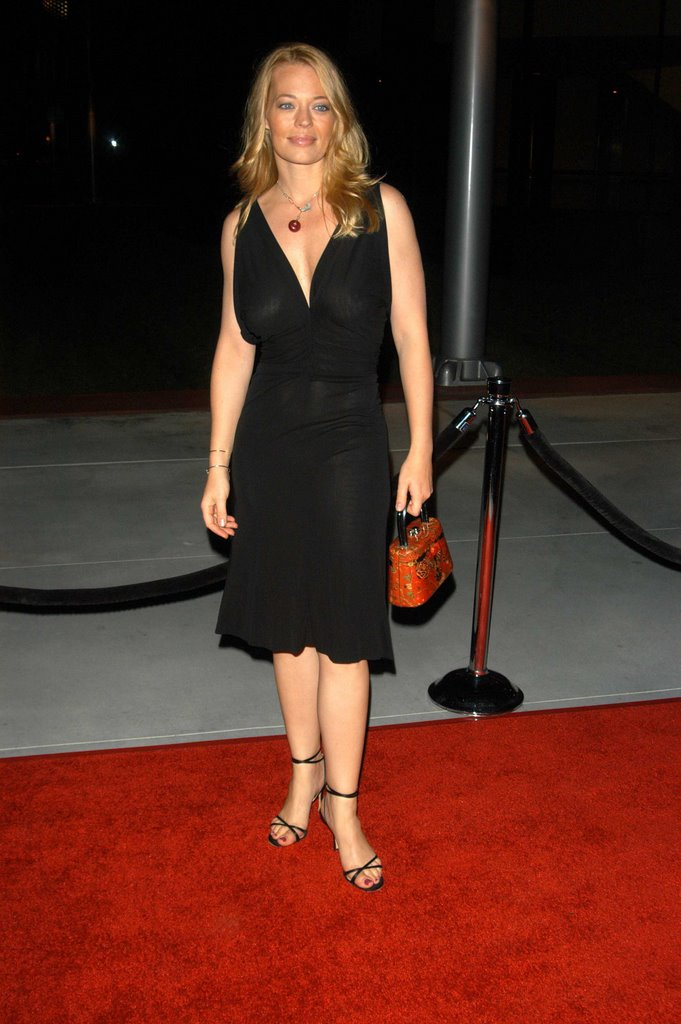 Naked Hollywood Jeri Ryan See Through Black Dress-4355