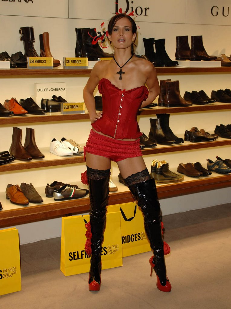 Devilish Heel Deals Sophie Anderton Sexy Red Black Boots