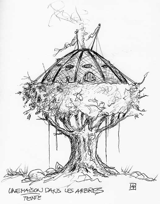 Les Dessins De Daniel Une Maison Dans Les Arbres A Treehouse