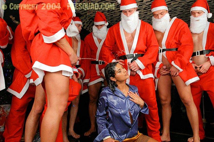 Санта Клаус В Диснейленде Окруженный Шлюхами