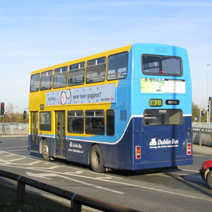 A double-decker bus.