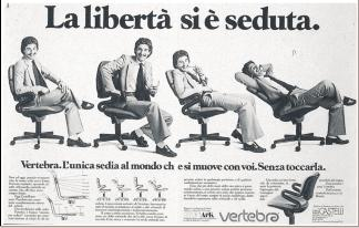 Crazy marketing blog anni 39 70 che bella la pubblicit for Sedia design anni 80