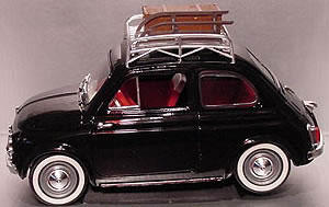 Toy Fiat 500 Complete With Roof Rack