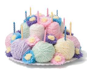 Knitted Birthday Cake Image