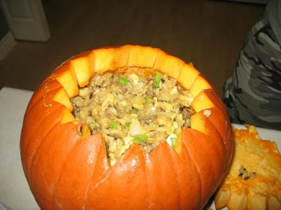 Dinner in a Pumpkin