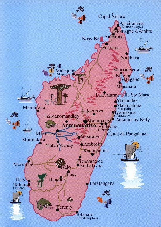 Carte Madagascar A Imprimer.Madagascar Cartes Plans