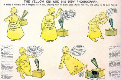 The Yellow Kid and his new phonograph