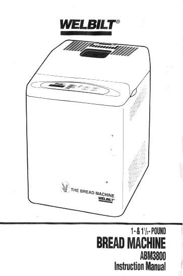 welbilt bread machine manuals rh welbiltmanuals blogspot com welbilt bread machine manuals 8200 welbilt bread machine manuals 8200