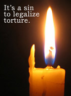 It's a sin to legalize torture [photo from the PCUSA Web site]