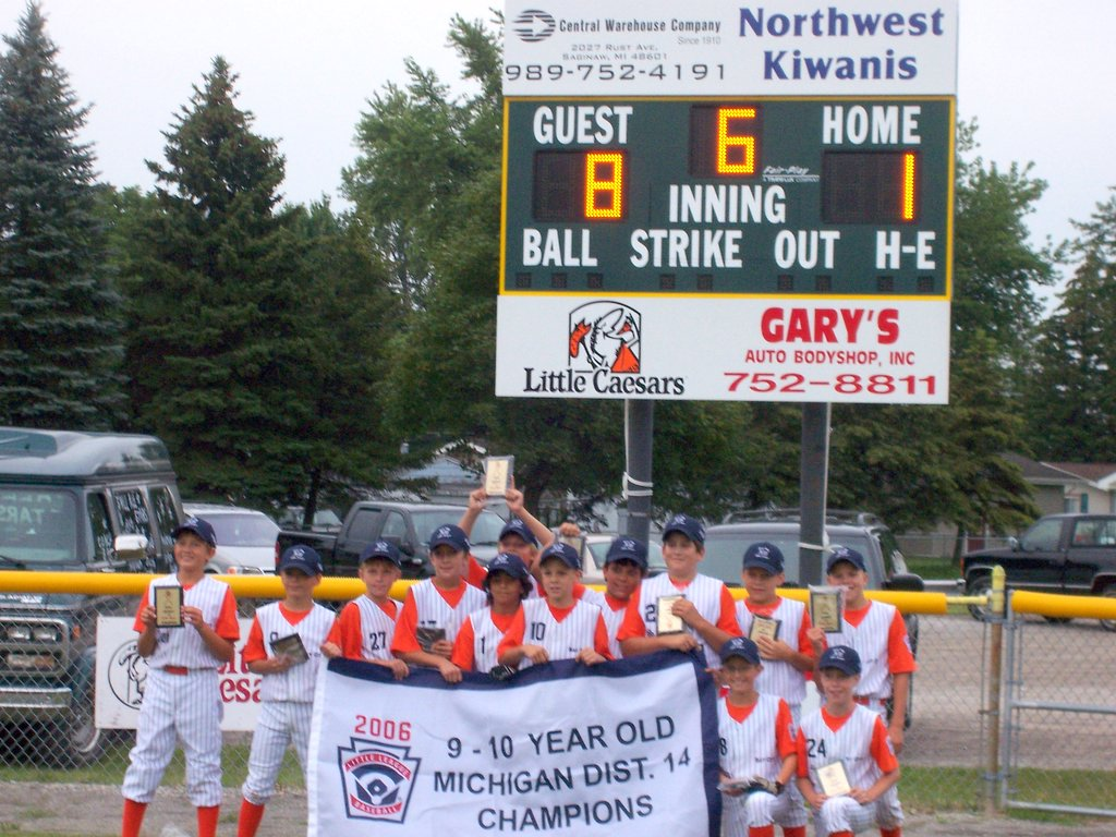 Bay City South West Little League 9-10 Year Old All Star Team