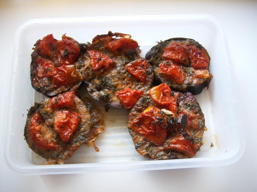 Fırında Hellimli Patlıcan Dilimleri
