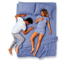 Image result for couple sleep posture The Crab