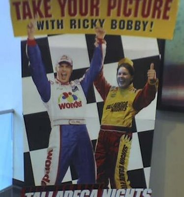 Ricky Bobby celebrates his box office victory with She Who Must Not Be Named...