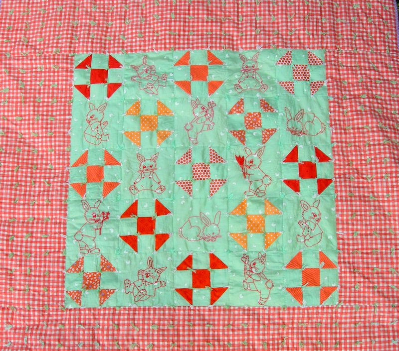 Bobby La S Fancywork Patterns Happy Bunny Baby Quilt