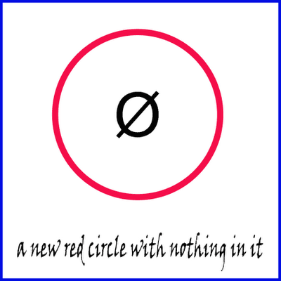 a new red circle with nothing in it - allan revich - 2006