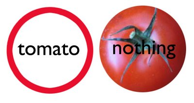 a red circle (tomato) with nothing in for Litsa and Ruud by Allan Revich by