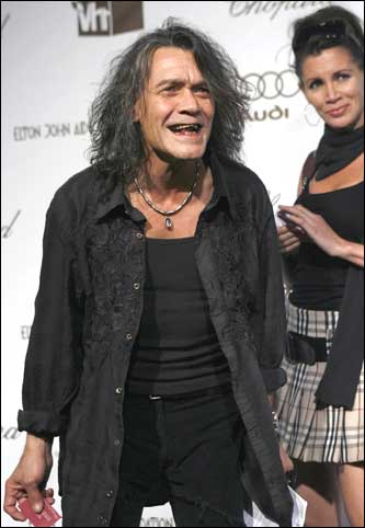 67ba88e3e I am in denial, but this is Eddie Van Halen at a party last night.