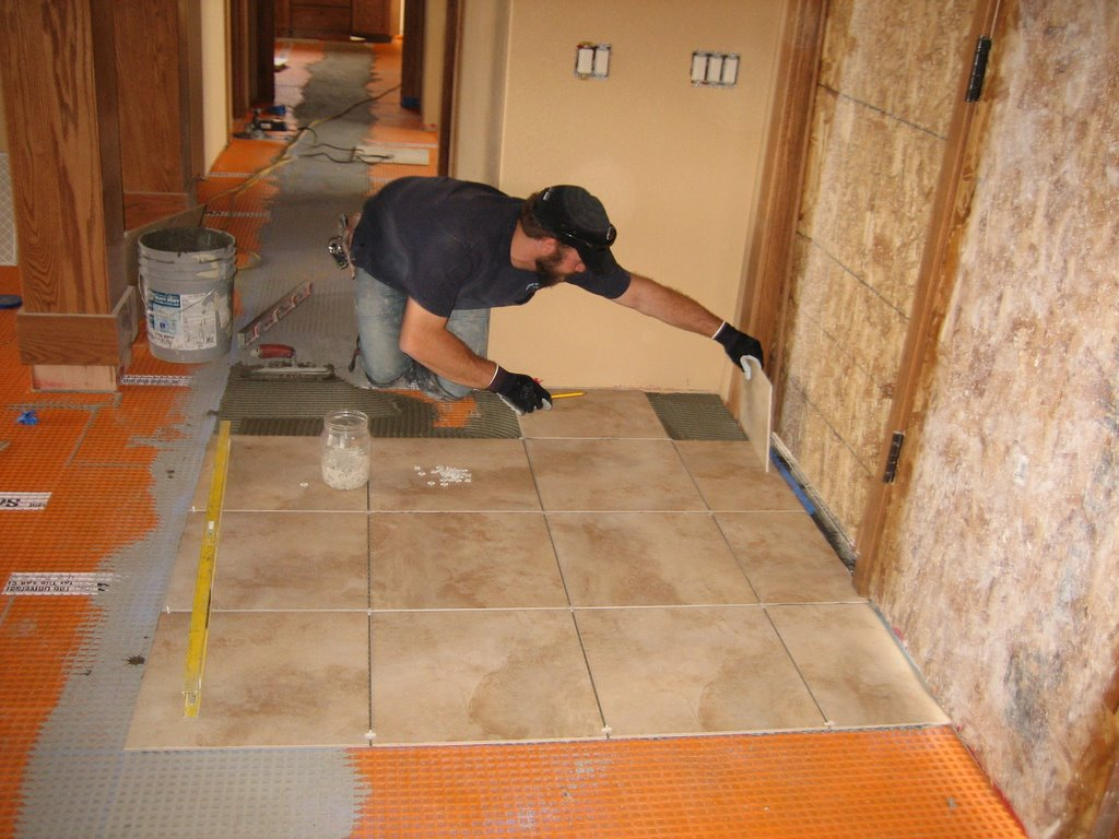 Roth Home Building Adventure Front Entry Tile Stained