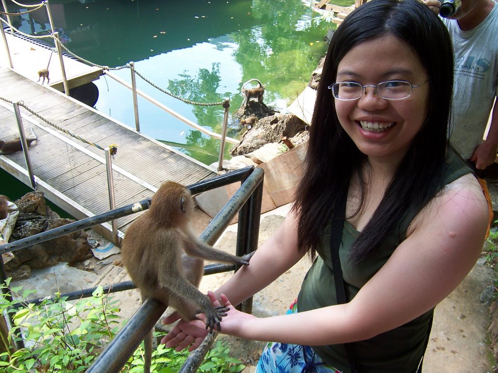 Monkeys here are so cute and adorable. I got touch this monkey too and his  fingers are oh, so soft~