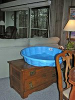 wading pool on furniture
