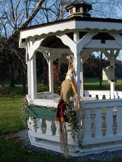scarecrow at gazebo