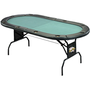 Texas Hold'em Oval Poker Table