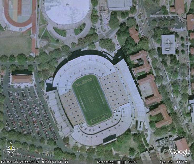 Football Stadiums Via Google Earth From The Gonzo