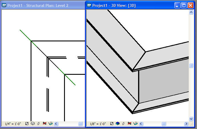 Revit Oped Revit Structure Miter A Steel Corner Connection