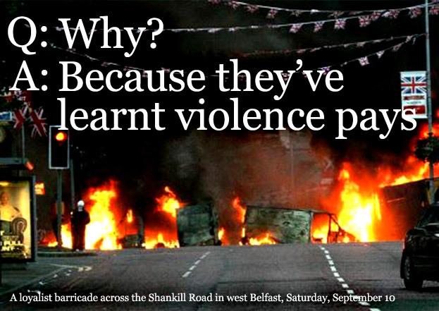 violence across the barricades