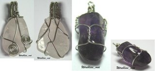 Wire Wrapped Gemstones Pendant