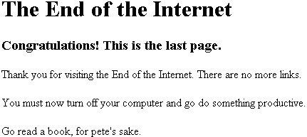 final de internet