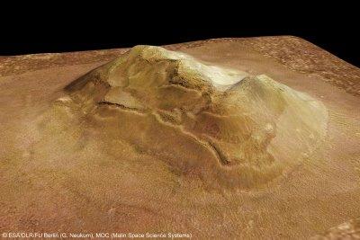 Foto de la cara de Marte