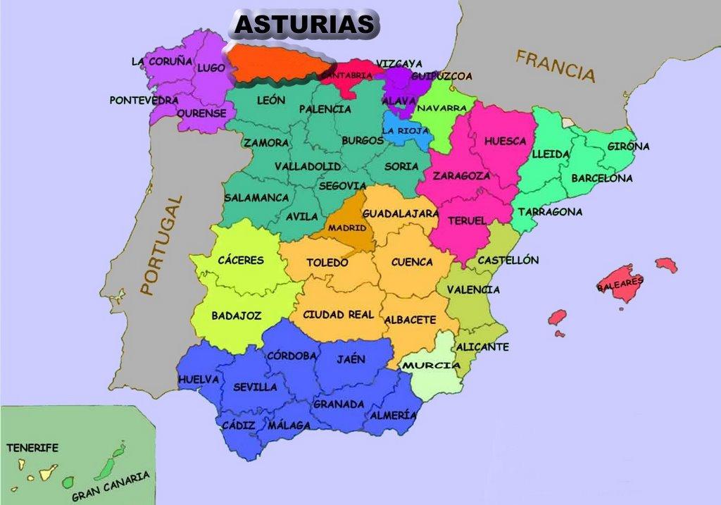 mapa asturias espanha Los Frecha: La Frecha de Asturias II mapa asturias espanha