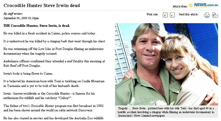 crocodile hunter steve irwin returns