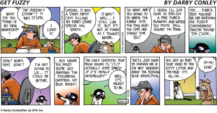 Fuzzy lumber comic strip
