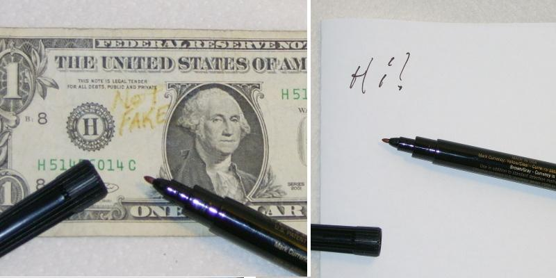 The Calladus Blog Testing Counterfeit Money Detector Pen By Drimark Fresno Atheist And Skeptic