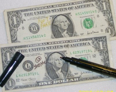 The Calladus Blog Testing The Counterfeit Money Detector Pen By